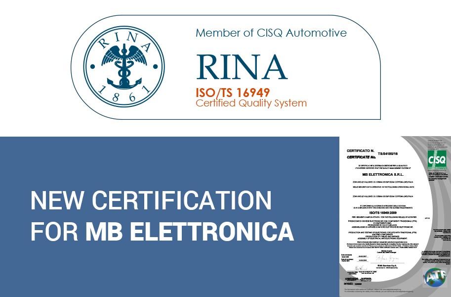 Nuova certificazione ISO/TS 16949