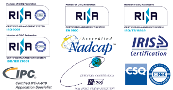 CSQ certification, IQNET certified management system, IPC certification, Iris Certification, European Cooperation for space standardization